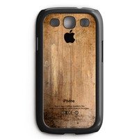 Grunge Wood Print Samsung Galaxy S3 Case