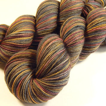 Hand Dyed Yarn - Sport Weight Superwash Merino Wool Yarn - Agate - Knitting Yarn, Sock Yarn, Wool Yarn, Earthtones, Brown, Grey Gray