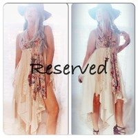 Wanderlust day trip dress, boho sundress, True Rebel Clothing