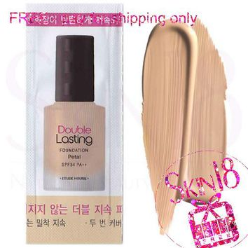 Freebies - Etude House Double Lasing Foundation Petal (SPF34 PA++)  (Sample Pack)  *exp.date 04/20