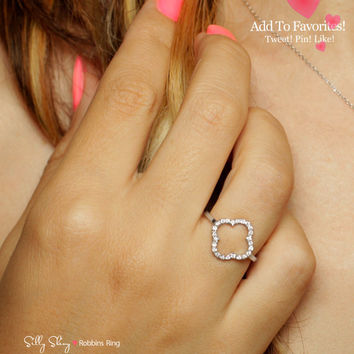 Clover Diamond Ring 14K gold