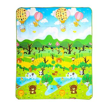 Play Mat Forest River Cartoon Baby Play Mat Crawling Mat Soft Floor Pad Game Pad Picnic Carpet Toys For Children Newborns