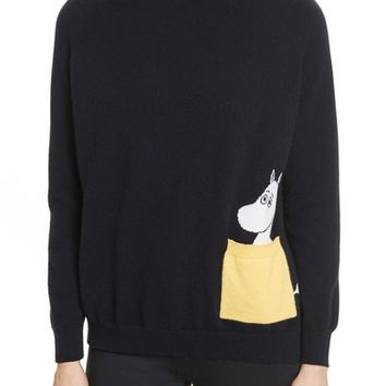 CHINTI & PARKER Moomin Pocket Cashmere Sweater | Nordstrom