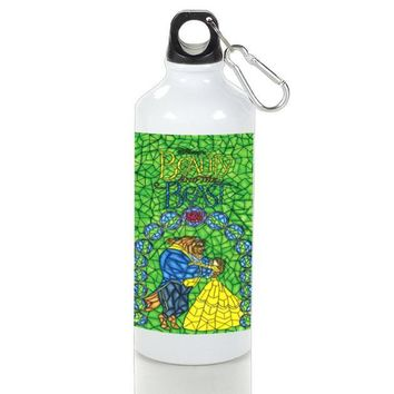 Gift Sport Bottles | Beauty And The Beast Green Stained Glasses Aluminum Sport Bottles