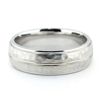 Men's Wedding Band - Dimples