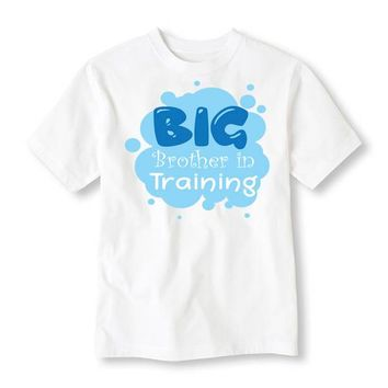 Big Brother In Training Personalized Tee Shirt - Birthday Shirt. Kids Birthday. Infant TShirt. Toddler Shirt. Sibling. Birth Announcement.