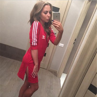 """Adidas""Slim Split One Piece Dress"