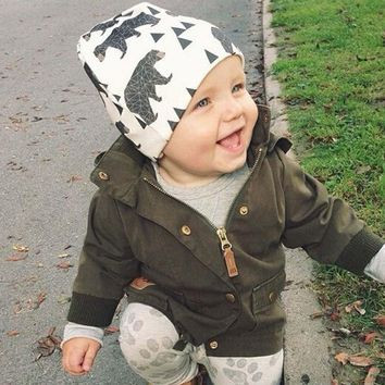 Autumn Winter animal print Cotton Baby Hat Girl Boy beanie Kids Caps Lovely Knit Crochet bonnet Accessories