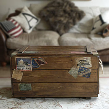 Personalised Retro Steamer Travel Trunk