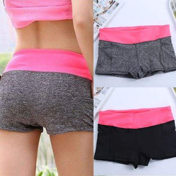 Fashion Summer Pants Women Sports Shorts Gym Workout Fittness Skinny Yoga Short