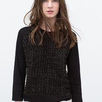 Knit sleeves sweater