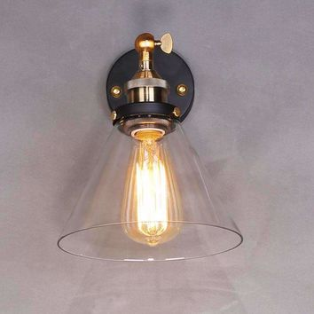 LED Pendant Light Glass Hanging Light Wall Mounted Plated Vintage 110/220V Lamp Corridor Bedroom Living Edison Light Fixtures