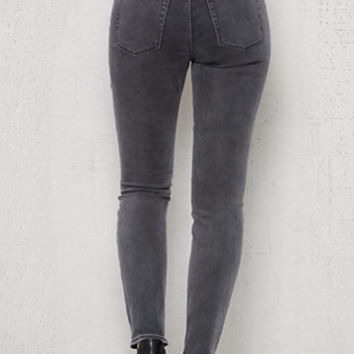 PacSun Washed Gray High Rise Skinny Jeans at PacSun.com