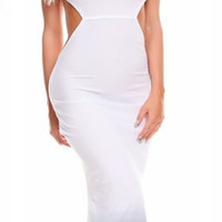 The Ombre Maxi Backless Dress