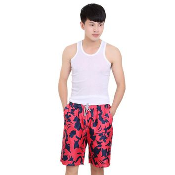 Men's Quick-drying Sports Surf Board Short Beach Swim Pants Men Board Short Quick Dry Calf-Length Sweatpants Cotton Trousers
