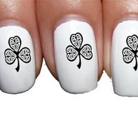 Shamrock Clover St. Patricks Irish Nail Art Transfer Decal Wrap