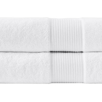 2-Piece Concierge Hotel Turkish Bath Towel Set - White