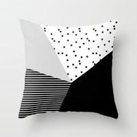 Geometry Blocks 10 Throw Pillow by Mareike Böhmer Graphics