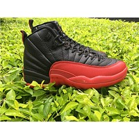 "Air Jordan 12 ""Flu Game"" black/red  Basketball Shoes  41-47"