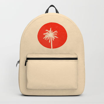 the palm with sunset Backpack by kspich