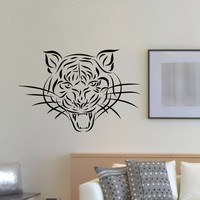 Wall Decal Vinyl Sticker Wild Animal Predator Tiger Decor Sb469