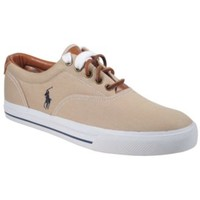 Polo Ralph Lauren Vaughn Canvas and Leather Sneakers - Shoes - Men - Macy's