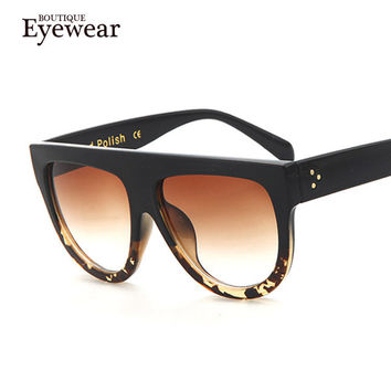 Woman Flat Top Mirror Sun Glasses