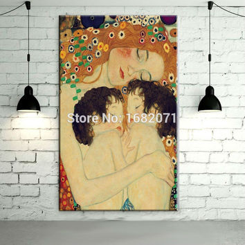 Gustav Klimt Mother And Child Oil Painting On Canvas