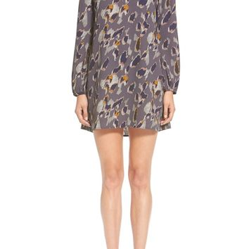 Leith Print Long Sleeve Dress | Nordstrom