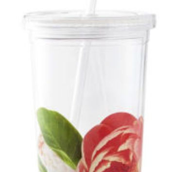Kate Spade New York Floral Insulated Tumbler with Straw 20oz