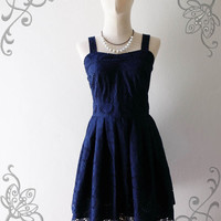 NEW ARRIVAL  Vintage Chic  Classy Beautiful Dark Blue by Amordress