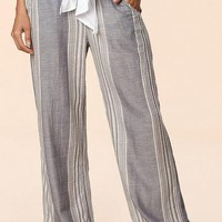Bella Blue Stripe Linen Pant