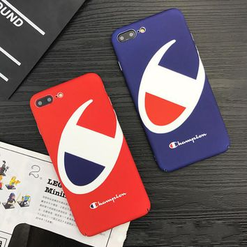 The New Champion Print In Black & Red Iphone 8 8 Plus/ 7 7Plus/ 6 6s Plus Cover Case