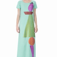 WALTER VAN BEIRENDONCK PATCH MAXI DRESS - WOMEN - SALE - WALTER VAN BEIRENDONCK - OPENING CEREMONY