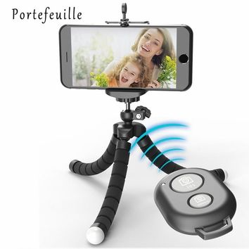 Portefeuille Tripod For Phone iPhone 7 Plus Samsung S8 S7 Edge Flexible Octopus Camera Holder Stand Smartphone Mount Accessories
