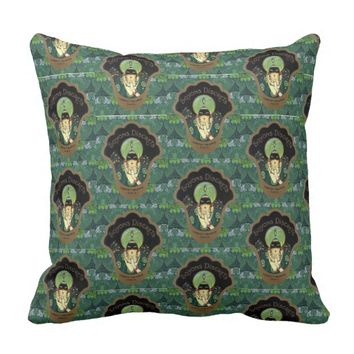 Art nouveau women's advertisement pillow