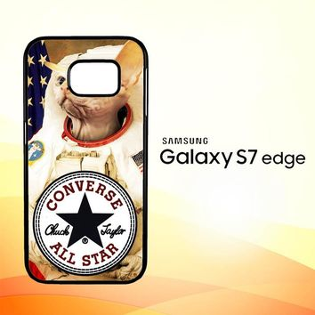 Astronaut Cat Converse W3097 Samsung Galaxy S7 Edge Custom Case