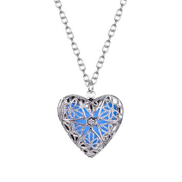 BodyJ4You Necklace Pendant Steampunk Heart Charm Locket Jewelry