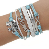 """""""Elephant in the Room"""" - Vintage Style Leather Charm Bracelet"""