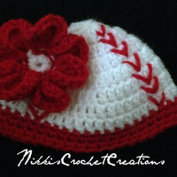Crochet girly baseball hat
