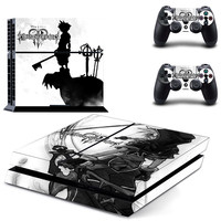 Kingdom Hearts PS4 Vinyl Sticker Wrap 2 Controllers