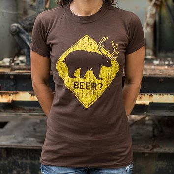 Beer? Bear T-Shirt (Ladies)