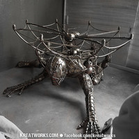 The Metal Spiderman table by Kreatworks on Etsy