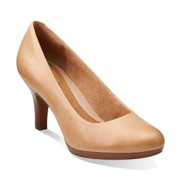 Tempt Appeal Nude Leather - Wide Shoes for Women - Clarks® Shoes - Clarks