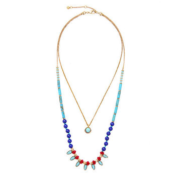 Beaded Layered Boho Necklace