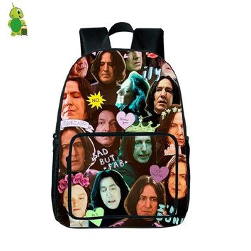 Girls bookbag Magical Harry Potter Backpack Severus Snape Overlay Printing School Backpack for Teenage Boys Girls Daily Bags Students Bookbag AT_52_3