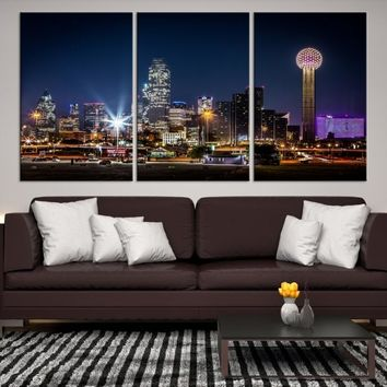 48658 - Dallas City Canvas Print, Dallas Skyline, Dallas Wall Art, Dallas Texas, Canvas Print, Dallas Canvas, Dallas Art, Dallas Canvas Print,