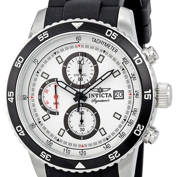 Invicta Signature II Chronograph White Dial Mens Watch 7396