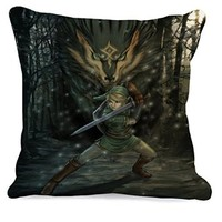Link and Wolf Legend of Zelda Pillow Case (16 x 16 two side)