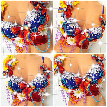 Trippy Hippie Rave Bra